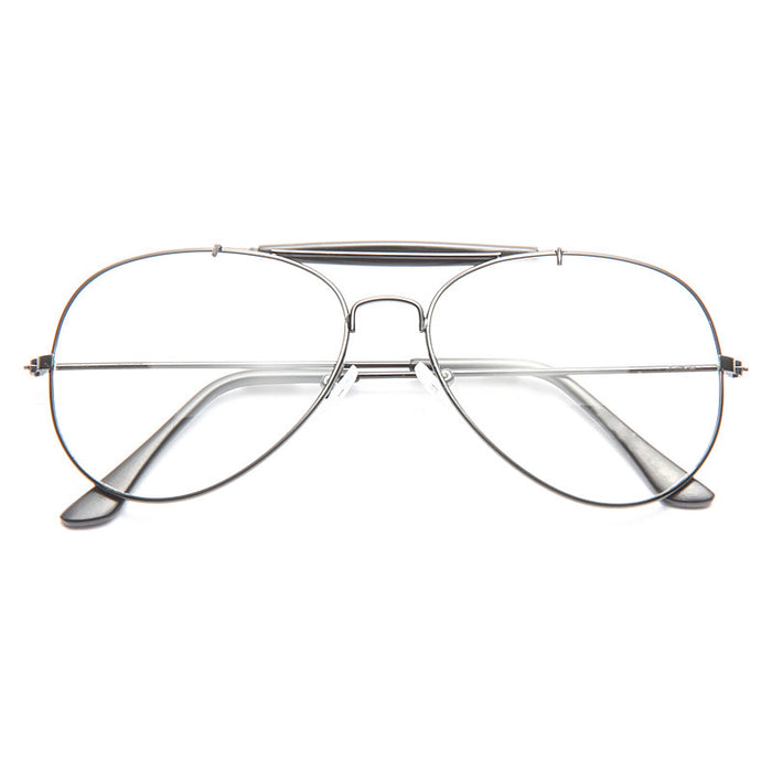 Outdoorsman Classic 56Mm Clear Aviator Glasses