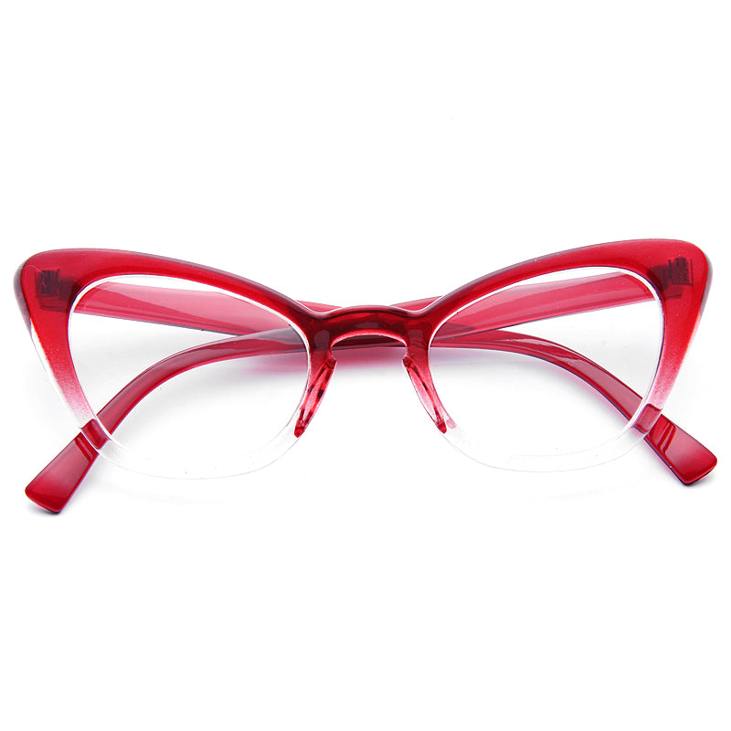 Alexis Gradient Frame Cat Eye Clear Glasses