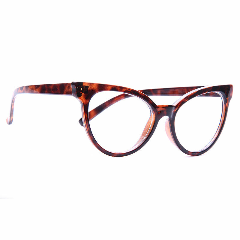 Maria Oversized Cat Eye Clear Glasses