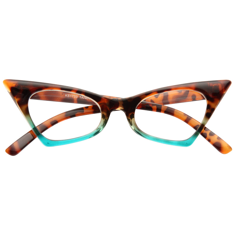 Esme Sharp Cat Eye Clear Glasses