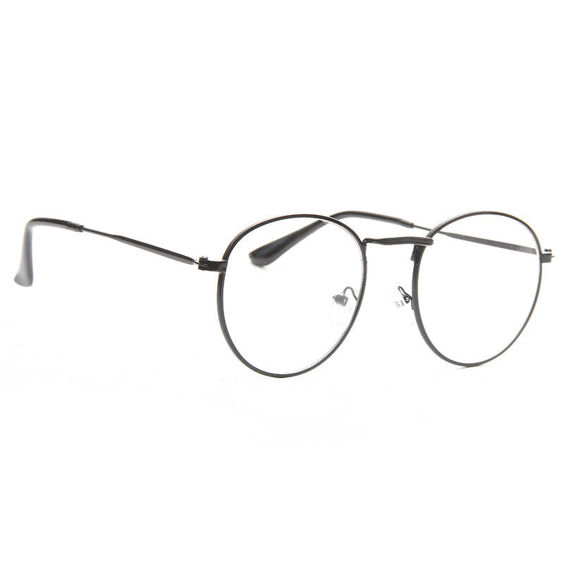 Sheldon Metal Round Clear Glasses