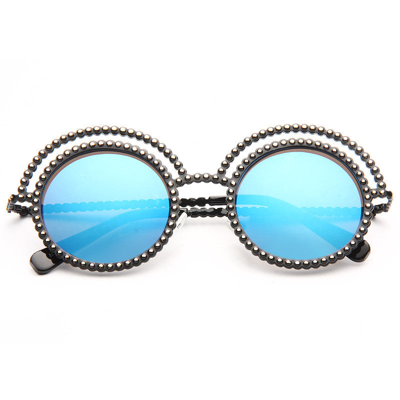 Runway Designer Inspired Oversized Round Sunglasses