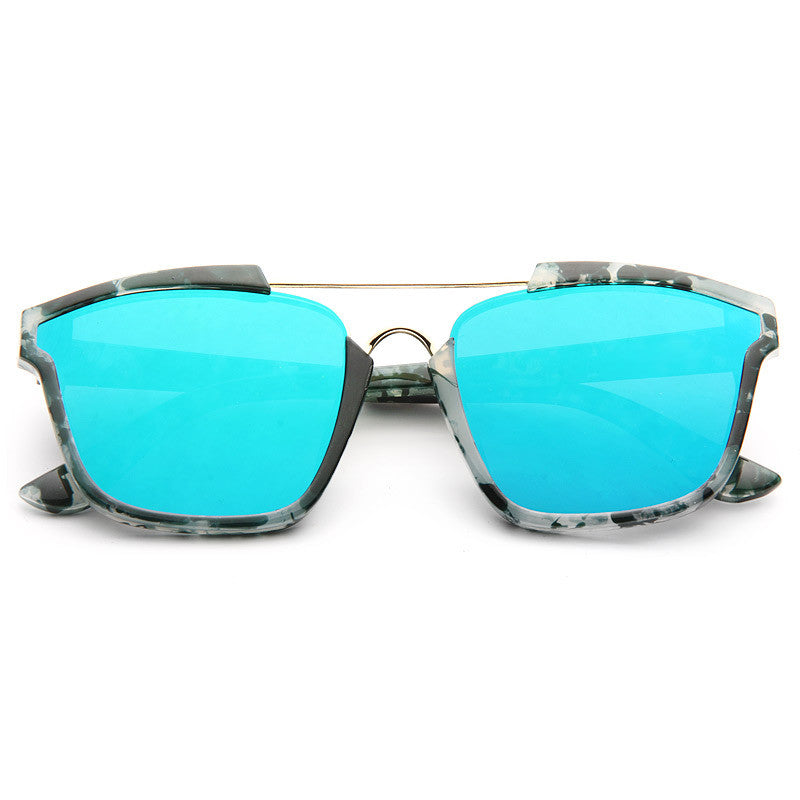 02bb6362fb Kendall Jenner Style Flat Lens Color Mirror Celebrity Sunglasses. Next