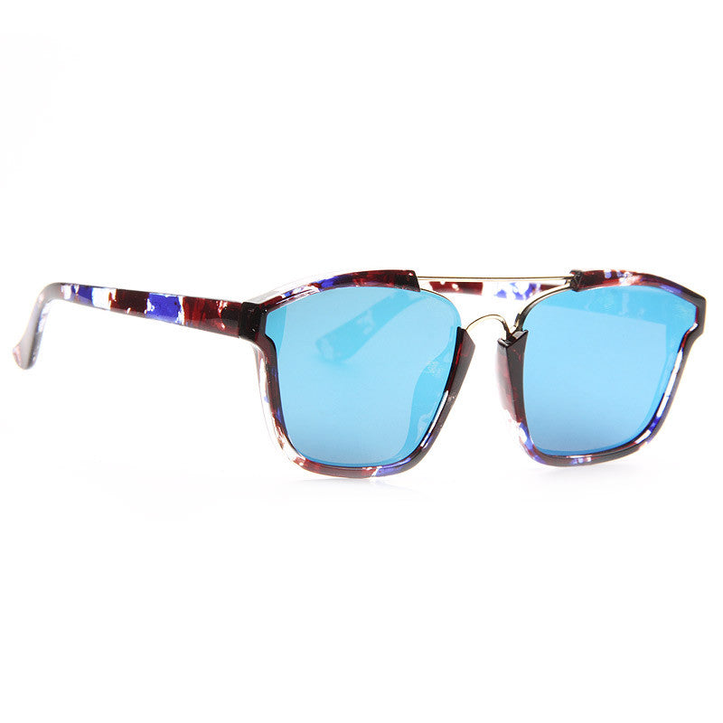 Hilary Duff Style Flat Lens Color Mirror Celebrity Sunglasses