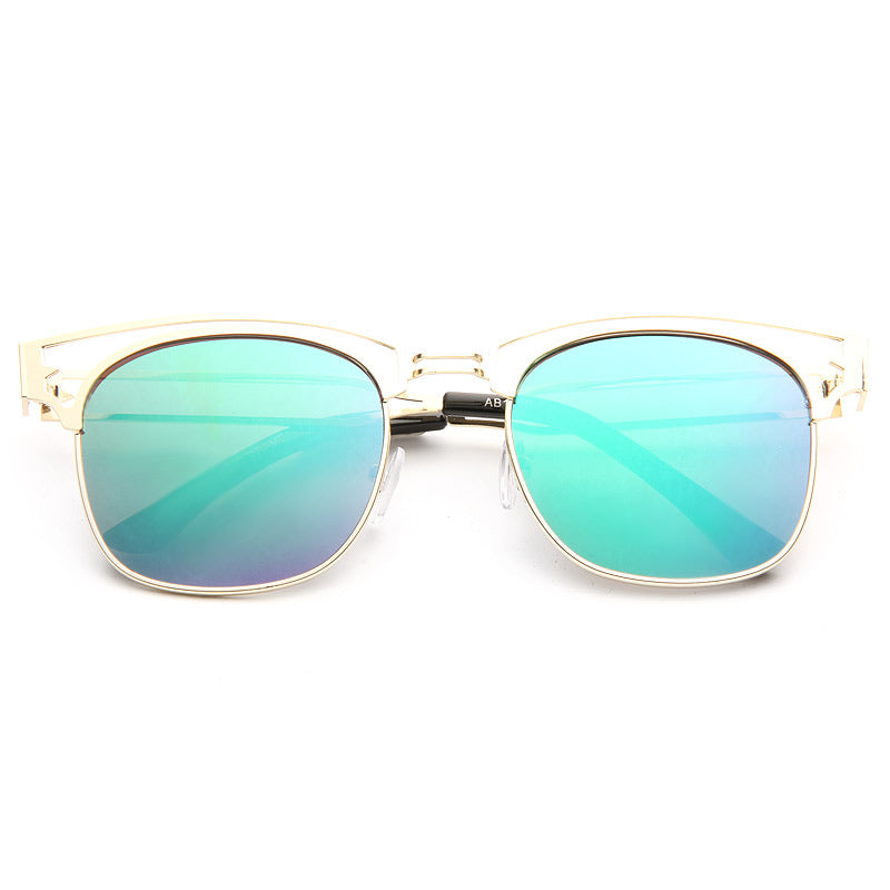 Stanton Color Mirror Half-Frame Sunglasses