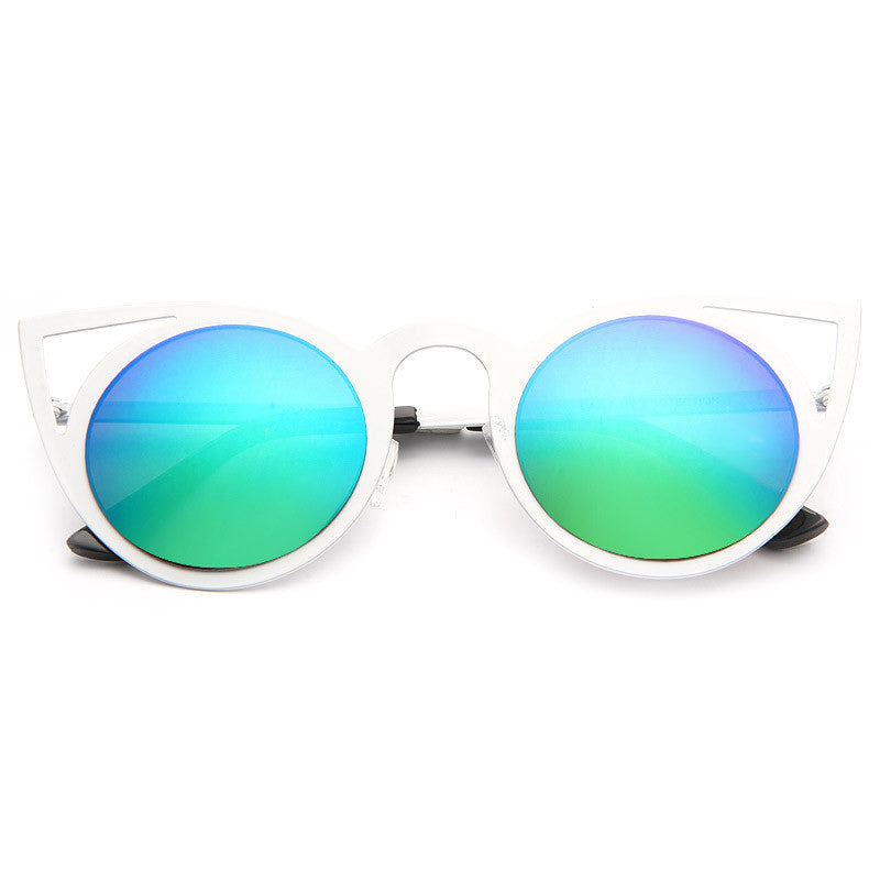 Invader Designer Inspired Metal Cat Eye Sunglasses