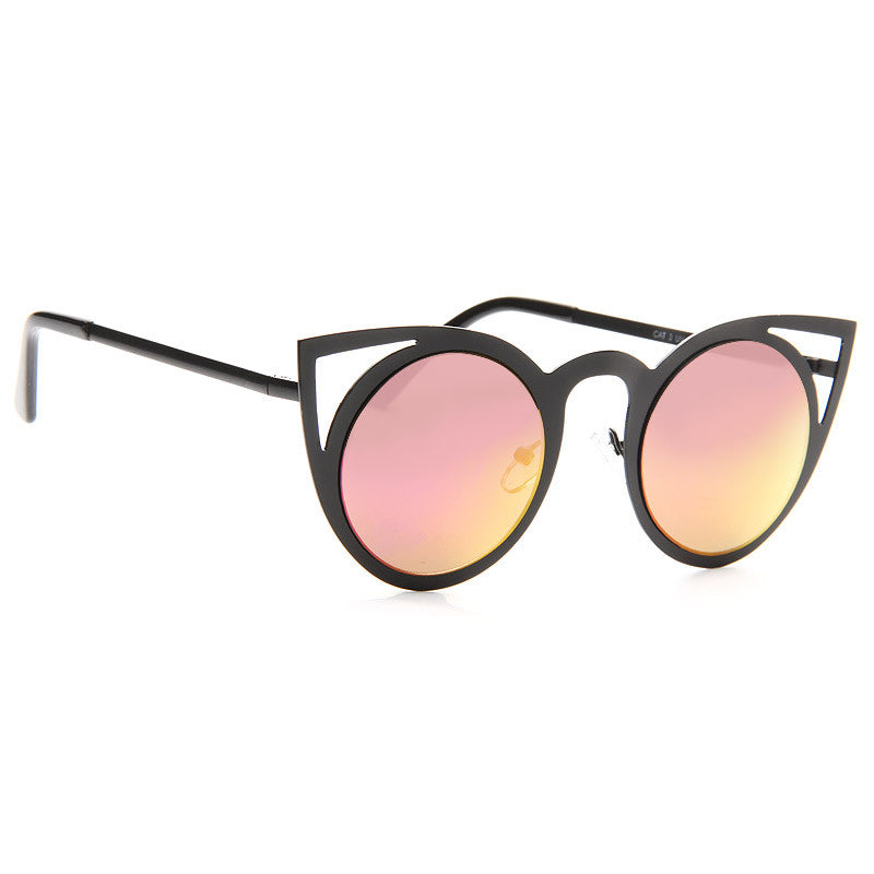 Shay Mitchell Style Metal Cat Eye Celebrity Sunglasses