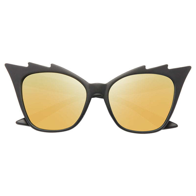 Hurricane Designer Inspired Sharp Cat Eye Sunglasses
