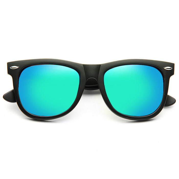 Dakota Matte X Large Color Mirror Horn Rimmed Sunglasses