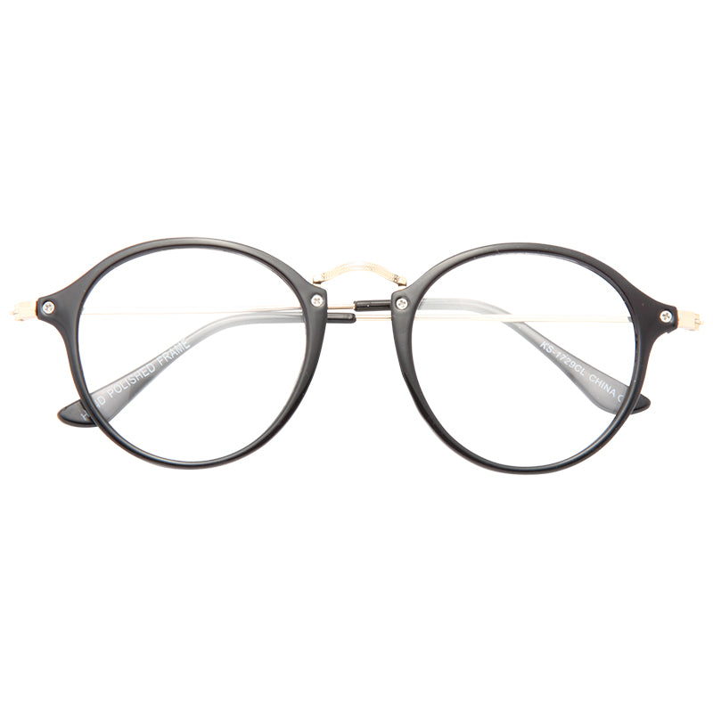 Dalton Thin Round Clear Glasses