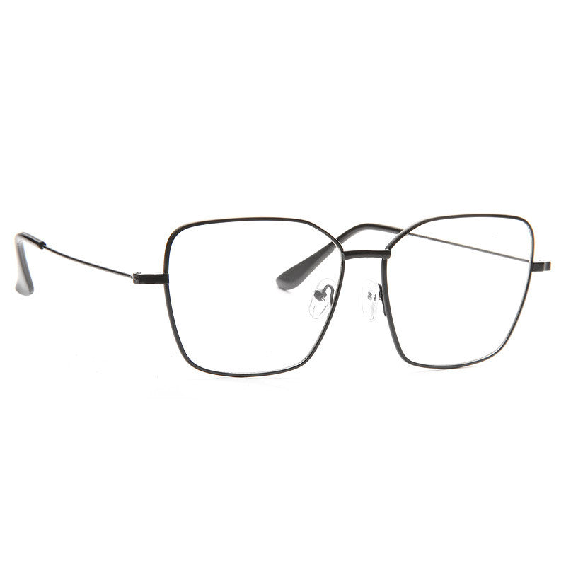 Irvine Thin Metal Squared Flat Top Clear Glasses