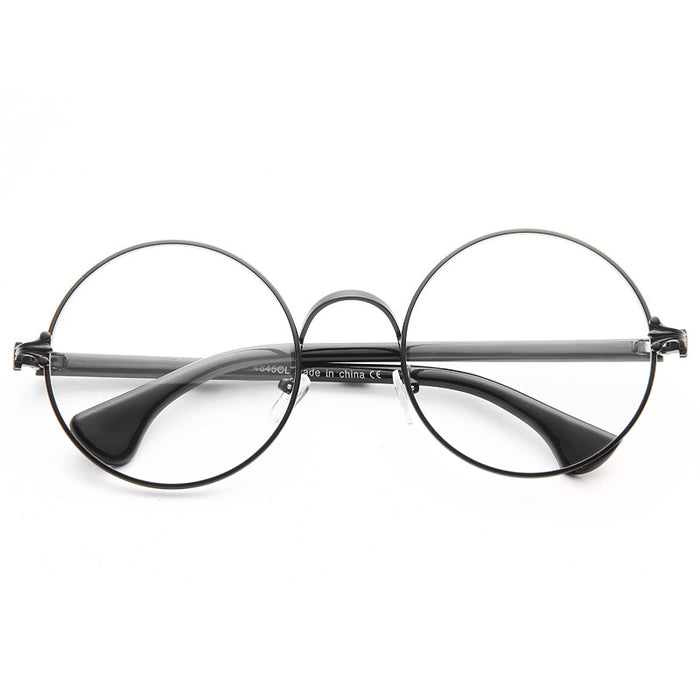 Jessup Metal Round Clear Glasses