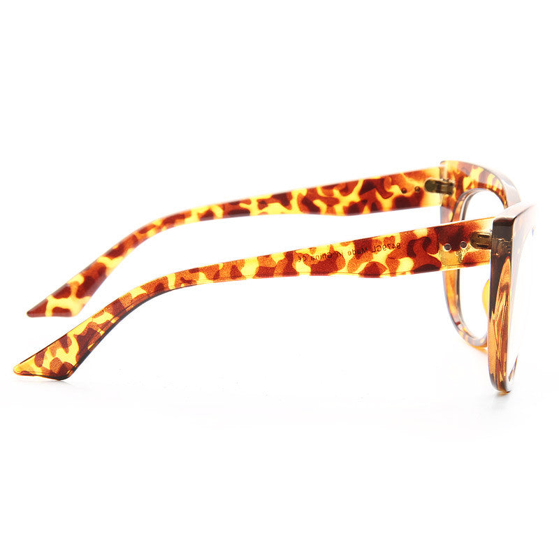Grace Oversized Sharp Cat Eye Clear Glasses