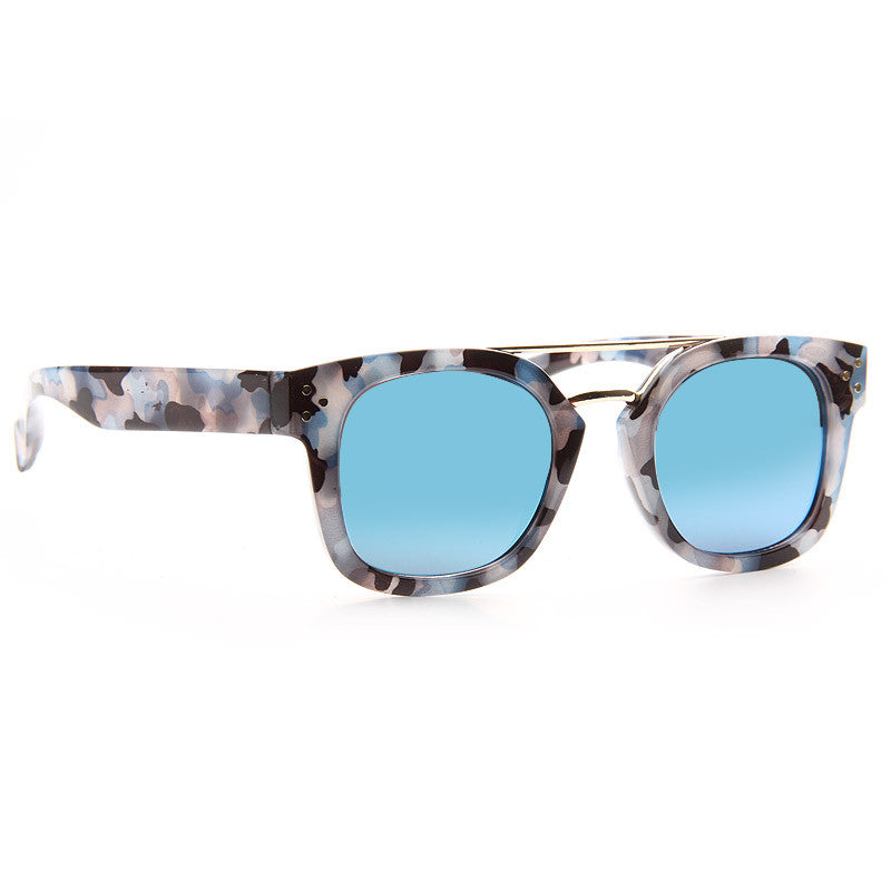 Extract Camo Print Color Mirror Sunglasses