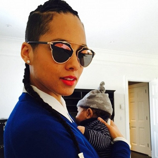 Alicia Keys Style Flat Top Celebrity Sunglasses
