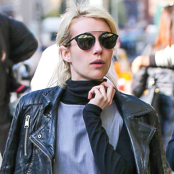 Emma Roberts Style Flat Top Celebrity Sunglasses