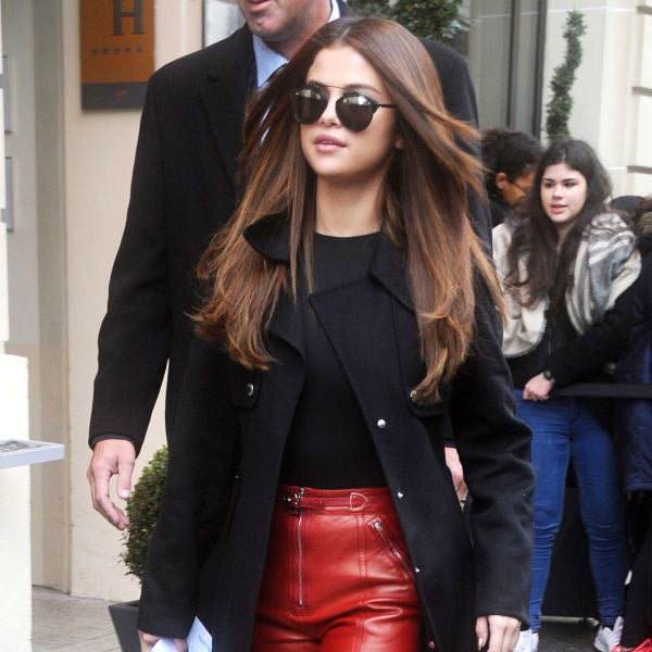 Selena Gomez Style Curved Bar Celebrity Sunglasses