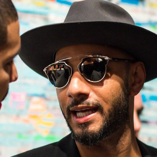 Swizz Beats Style Curved Bar Celebrity Sunglasses