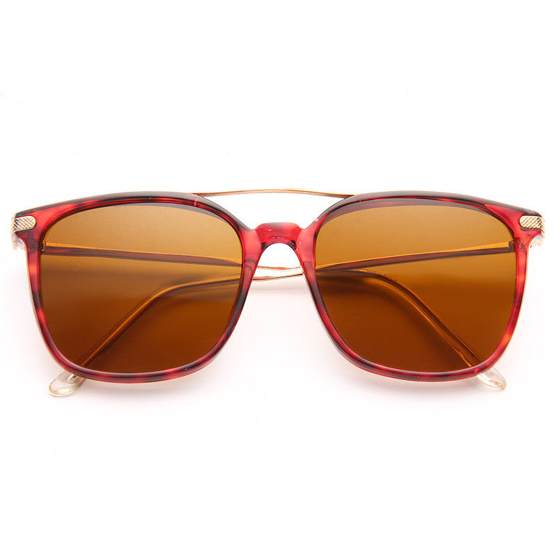 Waverly Vintage Flat Top Horn Rimmed Sunglasses