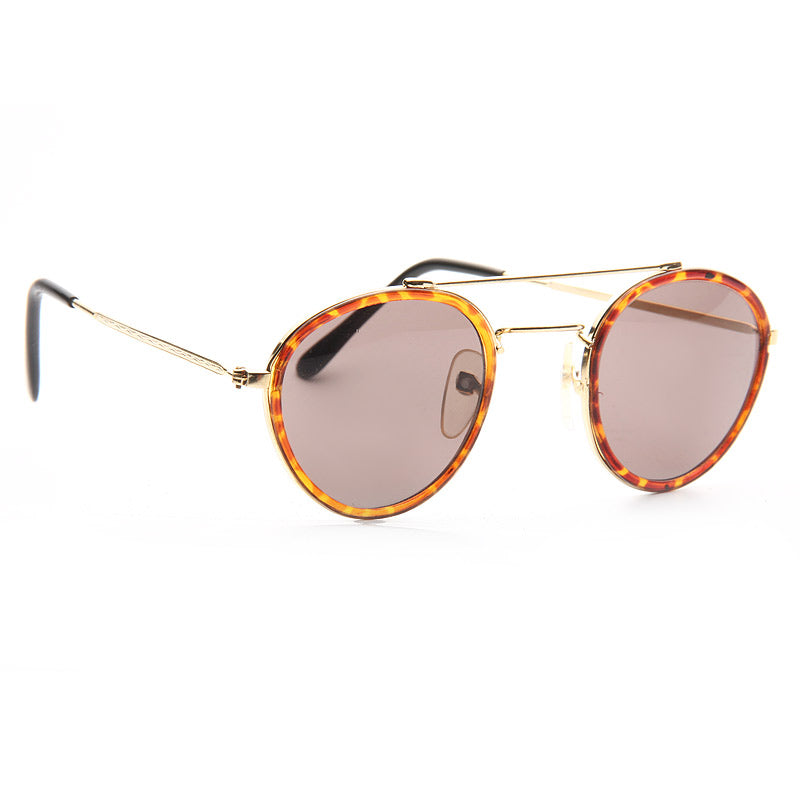 Miley Cyrus Style Vintage Round Flat Top Sunglasses