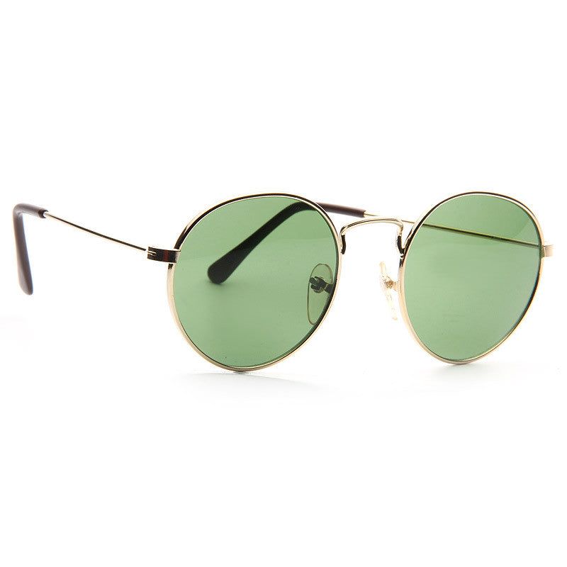 Brewster Vintage G 15 Green Lens Metal Sunglasses