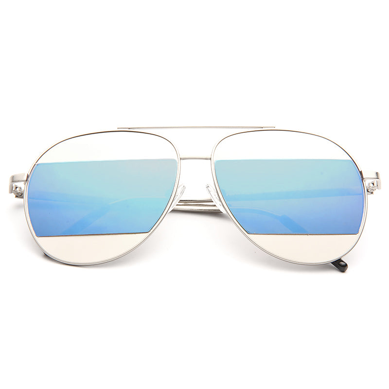 Olivia Wilde Style Color Mirror Aviator Sunglasses