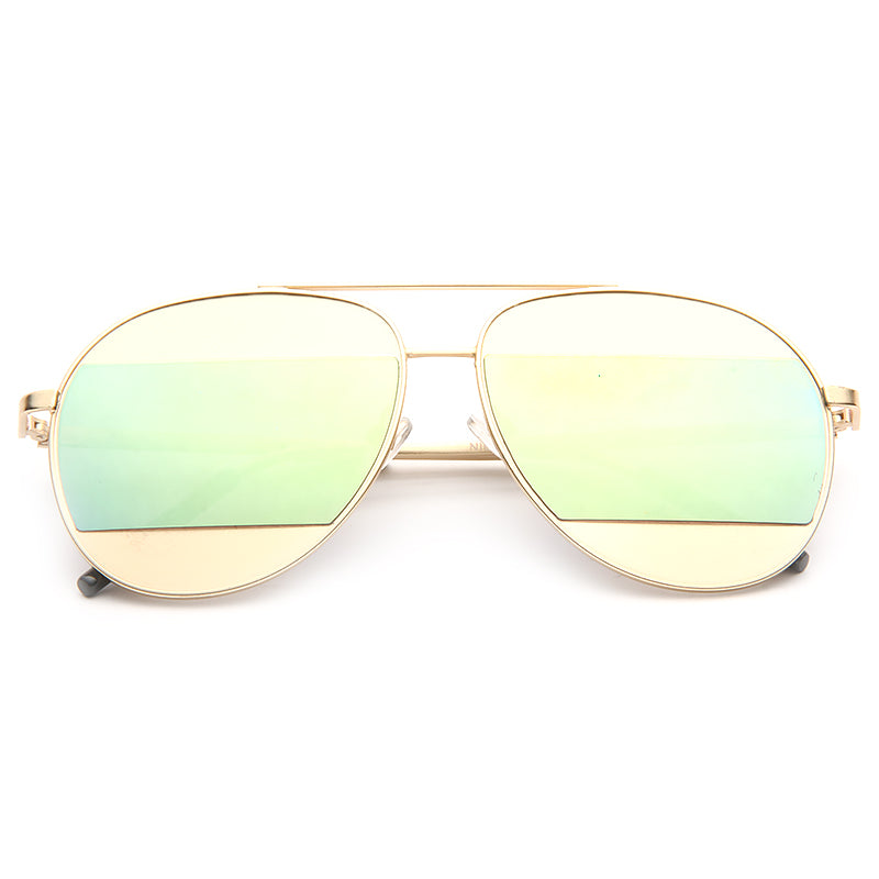 Kate Bosworth Style Color Mirror Aviator Sunglasses
