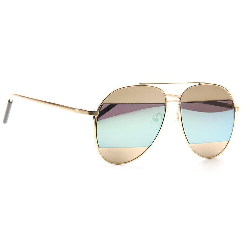 fb83b5c7126bc Celebrity Sunglasses - Kris Jenner Style Color Mirror Aviator ...