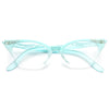 Betty Jo Rhinestone Frosted Cat Eye Clear Glasses
