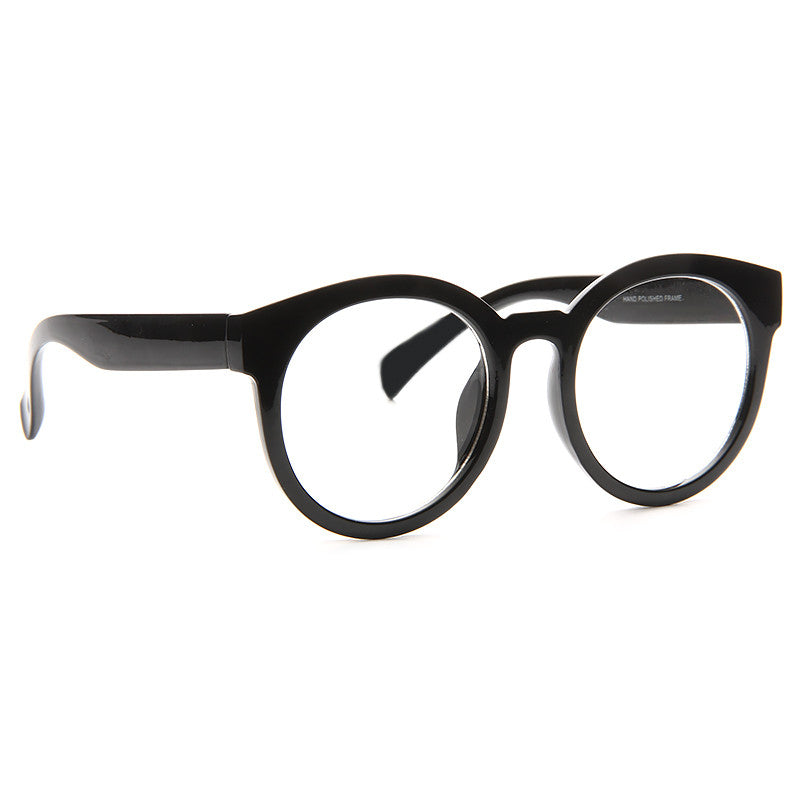 Klein Oversized Round Clear Glasses