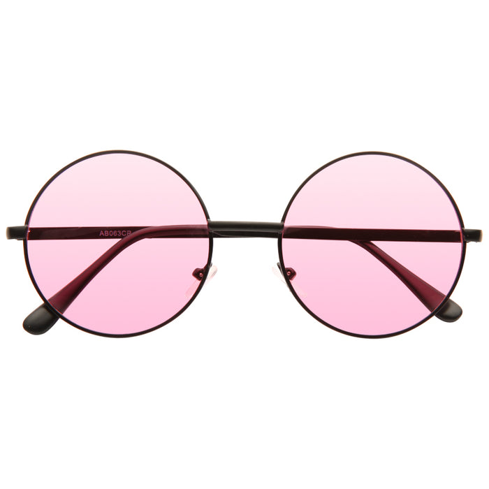 Mary Kate Color Tint 90s Round Sunglasses