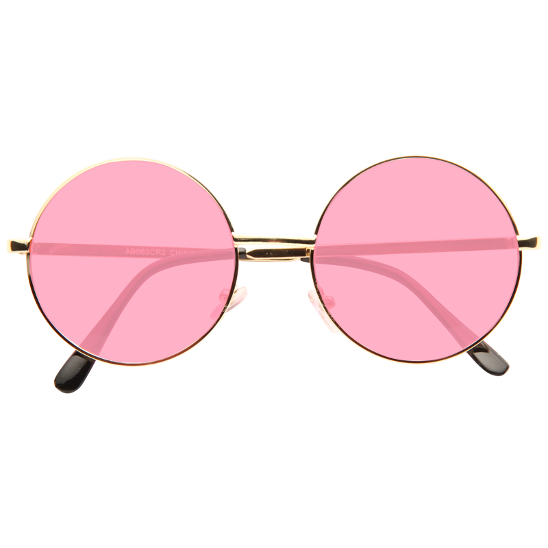 Ozzy Osbourne Style Tinted Lens Round Celebrity Sunglasses