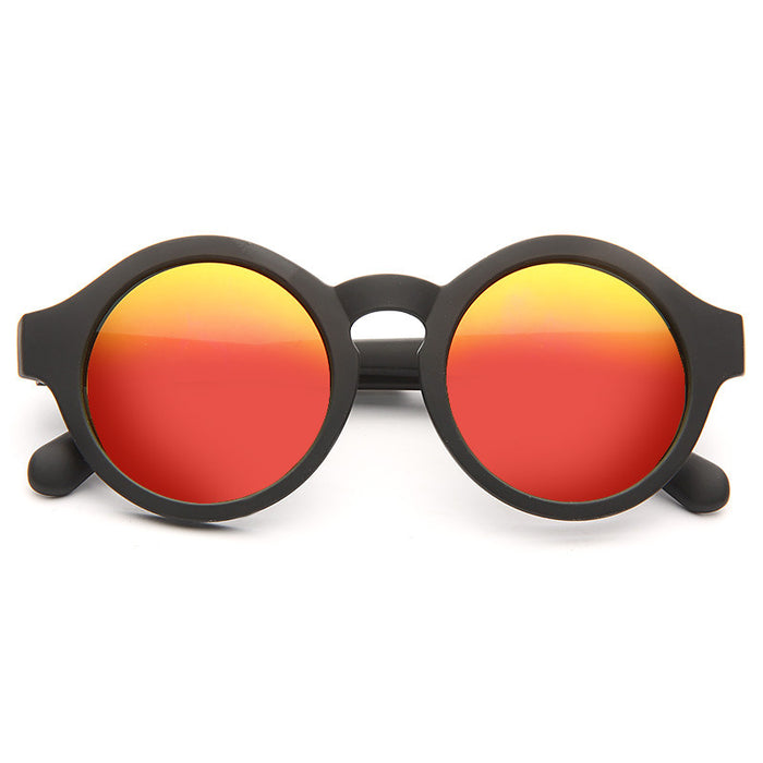 Kimball Oversized Color Mirror Round Sunglasses