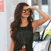Selena Gomez Style Oversized Color Mirror Round Celebrity Sunglasses