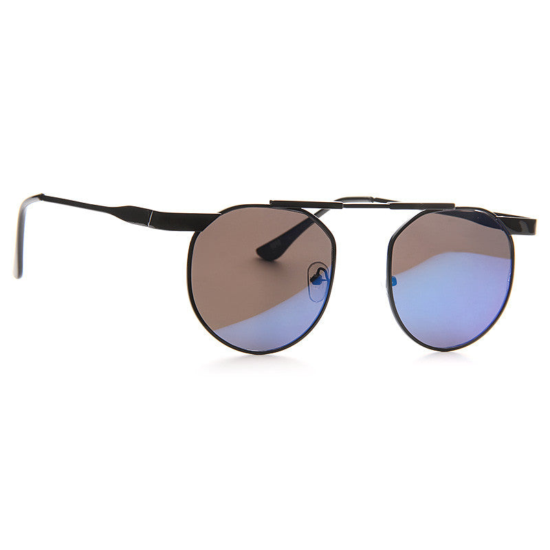 Eastgate Unisex High Bridge Rounded Metal Sunglasses