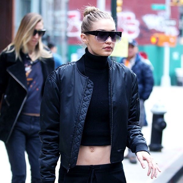 Gigi Hadid Style Flat Top Celebrity Sunglasses