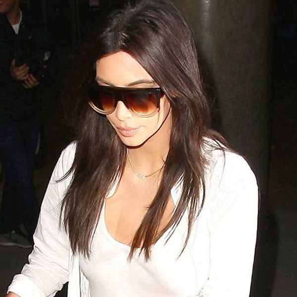 Kim Kardashian Style Flat Top Celebrity Sunglasses