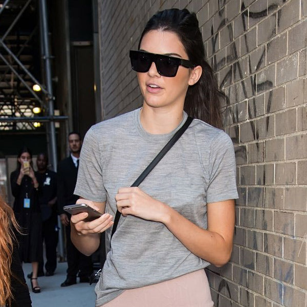Kendall Jenner Style Flat Top Celebrity Sunglasses