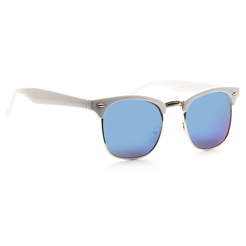 Katy Perry Style Unisex Color Mirror Half-Frame Celebrity Sunglasses