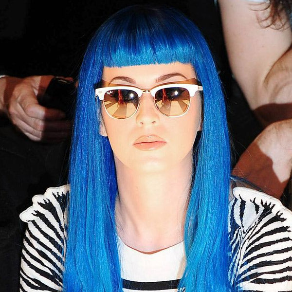 Katy Perry Style Unisex Color Mirror Half-Frame Sunglasses