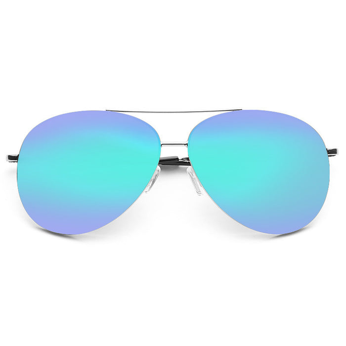 Luxe X Large 64Mm Color Mirror Aviator Sunglasses