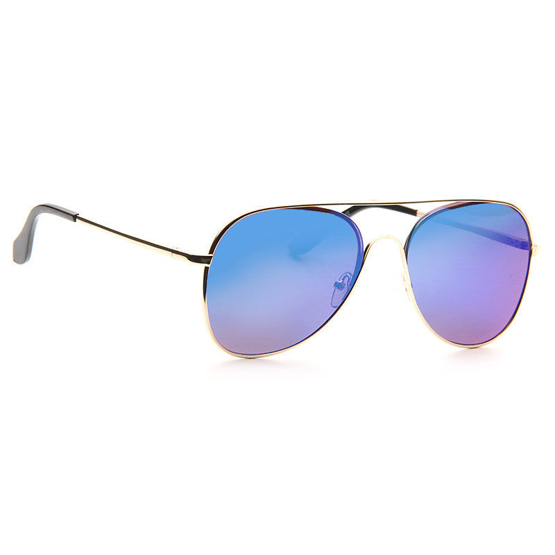 Westgate Flat Lens Color Mirror Aviator Sunglasses