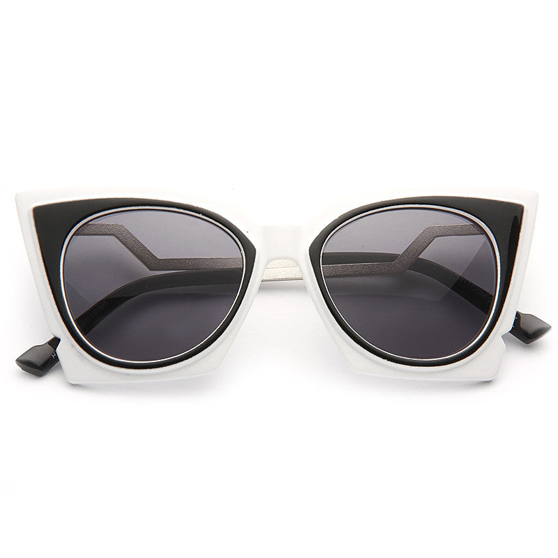 Orchidea Designer Inspired Pointed Cat Eye Sunglasses