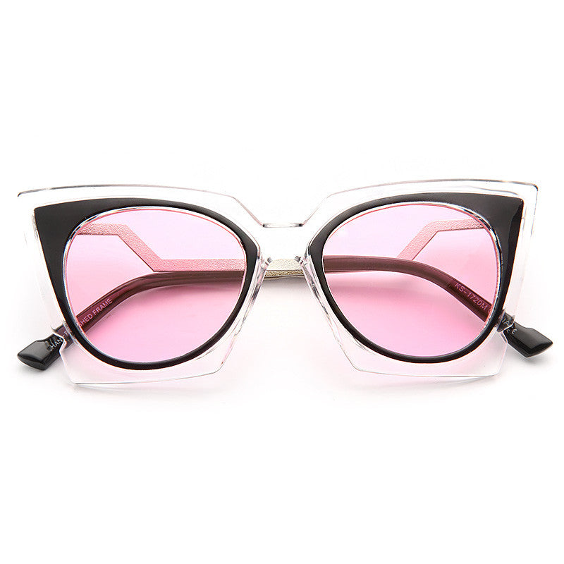 Kaley Cuoco Style Pointed Cat Eye Celebrity Sunglasses