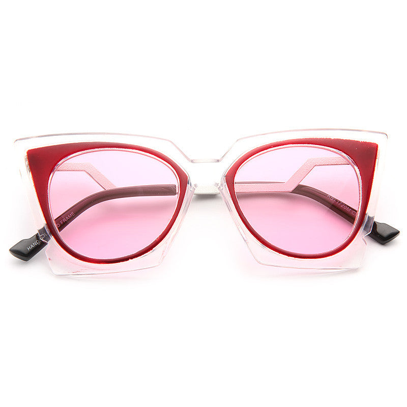 Chanel West Coast Style Pointed Cat Eye Celebrity Sunglasses