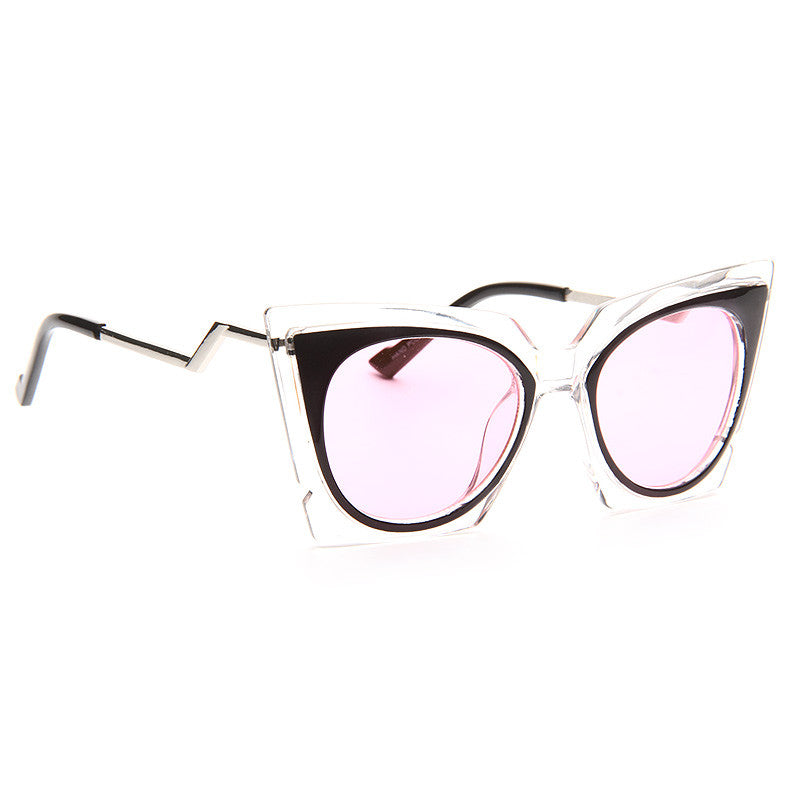 Lady Gaga Style Pointed Cat Eye Celebrity Sunglasses