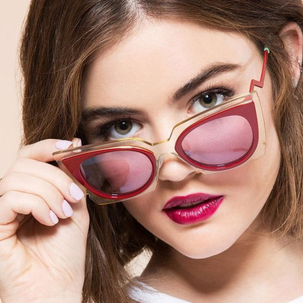 Lucy Hale Style Pointed Cat Eye Sunglasses