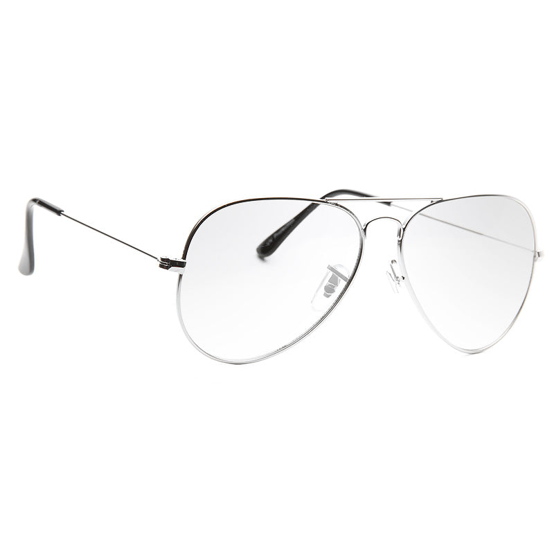 Classic 56mm Lightly Tinted Clear Aviator Glasses