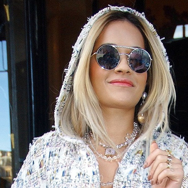 Rita Ora Style Color Mirror Round Metal Celebrity Sunglasses