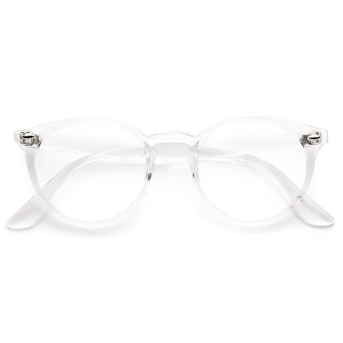 Grayson Oversized Round Clear Frame Clear Glasses